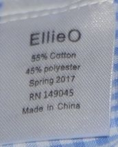 Ellie O Gingham Full Lined Longall Size 18 Months Color Blue image 4