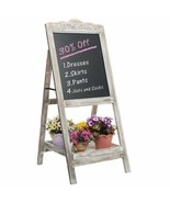 NEW Chalkboard Sign Wooden Shelf Plant Stand Entry Door Decor Wedding Pa... - $79.10