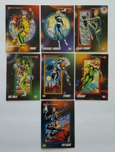 """1992 Impel Marvel Universe """"Super Heroes"""" Fem' lot of 7 cards in NM Condition - $6.88"""