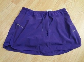 Women's Nike Dri Fit M Purple Tennis Skirt Squarts - $23.36
