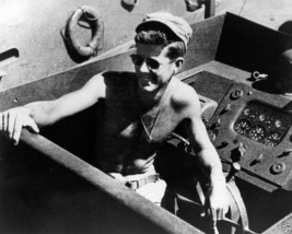 Lt. John F. Kennedy aboard PT-109 in the South Pacific 1943 JFK New 8x10... - $7.05