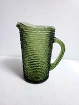 Vintage Anchor Hocking Avocado Green SORENO 26 Oz Small Water Juice Milk... - $11.87
