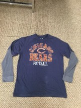 Chicago Bears Blue Gray NFL Team Apparel Long Sleeve Shirt Large Good Condition - $12.86