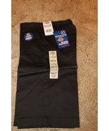 Dickies Girl's Junior Bermuda Shorts Stretch Uniform KR714BK Sz 3 29 x 13 Black  - $12.82