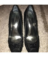 Style & Co Open Toe High Heels Black Size 8 Slightly Used - $34.65