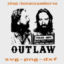 Willie Nelson Mugshot Outlaw svg png dxf - $1.99