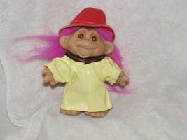 """1986 Dam Norfin Troll Fireman Firefighter Fire Man Fighter 5"""" Purple-Pink Hair - $10.88"""