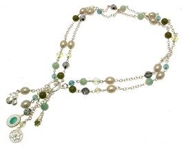 Beaded Necklaces Statement Necklaces For Women Green Beads - $18.42