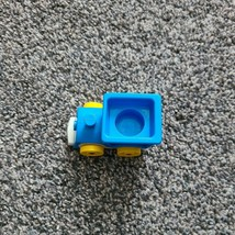 Vintage Little People Fisher Price 656 Riders Train Car Blue Yellow - $8.99