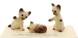 Hagen-Renaker Miniature Cat Figurine Siamese Kittens 3 Piece Set Chocolate Point