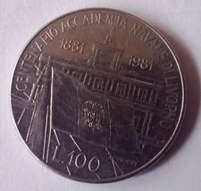 Italy 1981 100 Lire Commemorative Centennial Livorno coin free shipping ... - $4.00