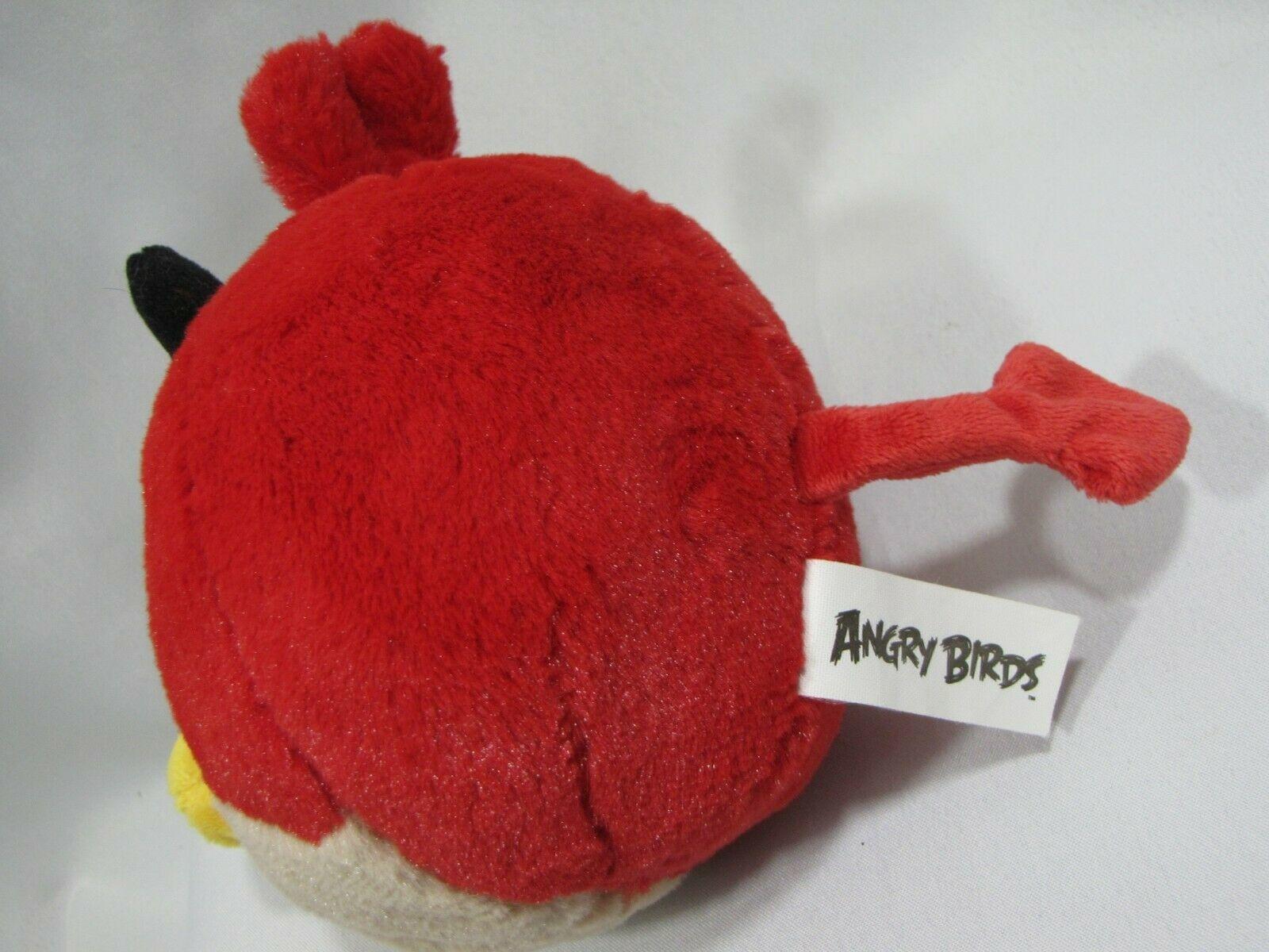 "Angry Birds Seasons Halloween Red Devil Horns Plush NO SOUND Bird Animal 5"""