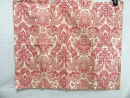 Pottery Barn Flora Paisley Floral Red Cream Cotton Linen Blend Standard Sham - $29.00