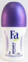 Fa SPORT Invisible Power deodorant roll-on 50ml- Made in Germany - $5.93