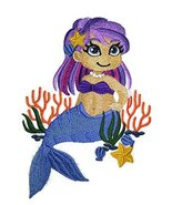 Custom Legendary Mythical Unique Mermaid [Under The Sea Sweetheart] Embr... - $12.86