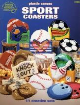 Sports Coasters in Plastic Canvas American School Leaflet 3196 Baseball ... - $6.95