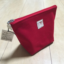 F/S Yojiya Ship Style Cosmetic Bag Red Color made in Japan from Kyoto Japan - $294,49 MXN