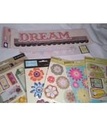 Flower Dream Dimensional Scrapbooking Stickers Lot of 7 Studio 112 Recol... - $10.99