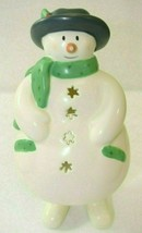 Hallmark Snowman Candle Holder Ceramic - $29.69