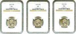 Lot of 1932-S 25c NGC Good-06 (3 Coins) - Washington Quarter - Key Date - $252.20