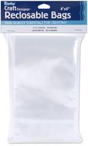 "Darice Reclosable Bags 100/Pkg-4""X6"" Clear - $7.14"