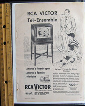 1950 RCA Victor TV Vintage print magazine advertisement Classic '50s dad. - $14.00