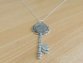 1966 52nd Birthday Key to my Heart Pendant - plus 18 inch Sterling Silve... - $17.47
