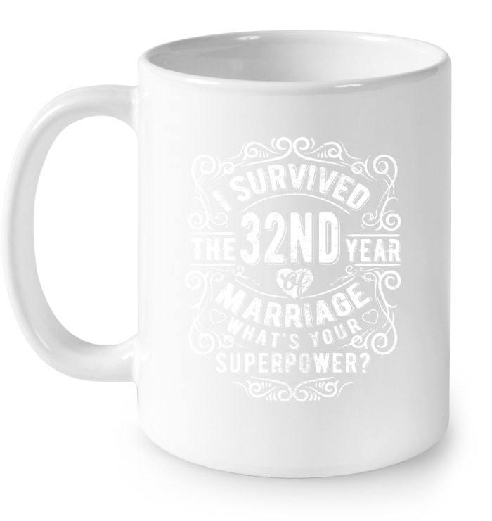 Wedding Gift Mugs: Anniversary Gift 32nd 32 Years Wedding Marriage Gift