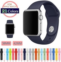 Replacement Sports Silicone Bracelet Strap Band for Smart Watch iWatch 3... - $7.49