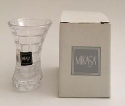 """Mikasa Mini Prisma Crystal Vase Mini Vase T YZ13-609 New in Box 3-3/4"""" - $18.00"""