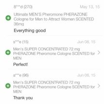 MEN 3 BOTTLE Lot of SUPER CONCENTRATED Pherazone SCENTED Pheromone 72mg Spray image 4