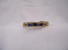 Vintage 925 Sterling Silver Native American Lapis Cuff Bracelet - $140.33