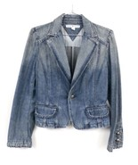 Tommy Hilfiger 100% Cotton Solid  Blue Denim Jacket Victorian Style PS P... - $19.99