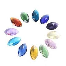 12Pcs Chandelier Horse Eye Glass Crystal Lamp Prism Part Hang Pendant Suncatcher - $11.01