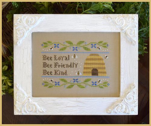 Bee Virtues cross stitch chart Country Cottage Needleworks
