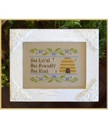 Bee Virtues cross stitch chart Country Cottage ... - $5.40