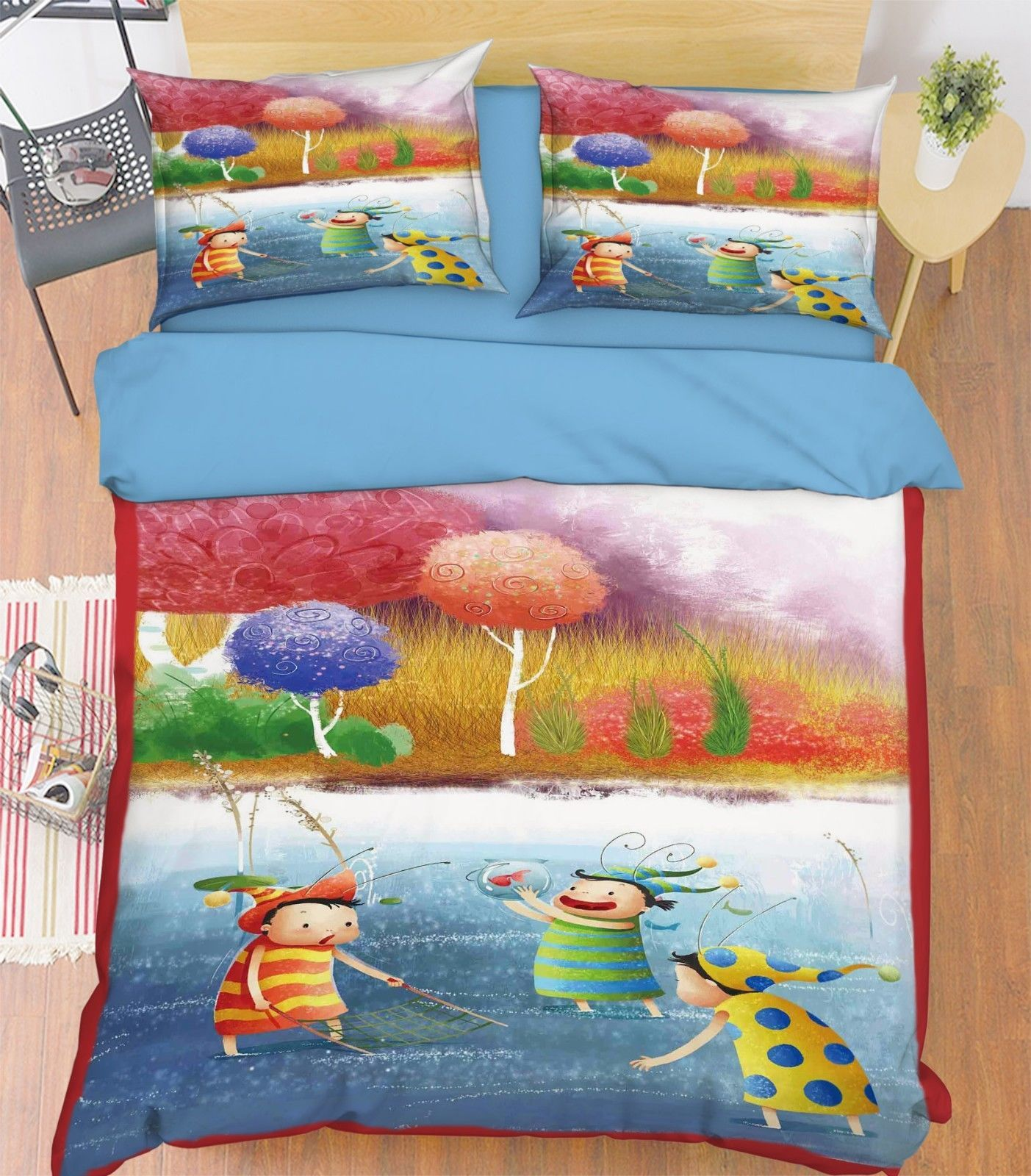 Primary image for 3D Playful Kids Bed Pillowcases Quilt Duvet Cover Set Single Queen King Size AU