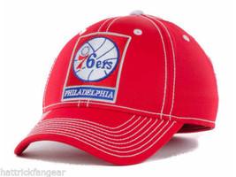 Philadelphia 76ers Adidas M401Z Team Stretch Fit NBA Basketball Cap Hat S/M - $20.89