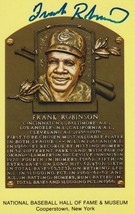 Frank Robinson Signed Autographed Hall of Fame Plaque Postcard - $39.95