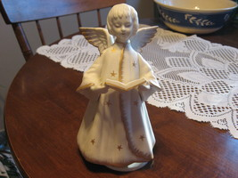 """Angel with Hymnal-Musical-""""Silent Night""""-Schmid Bros-Porcelain-Japan-1970's - $20.00"""