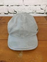 Joe Fresh Boys Sz S/M Hat Gray Striped Ball Cap Zipper Pocket Strapback - $9.89