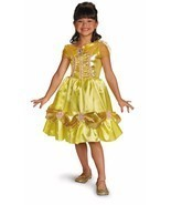 NEW Disney BELLE from Beauty & Beast Child Halloween Costume, sz M by Di... - ₹1,404.37 INR