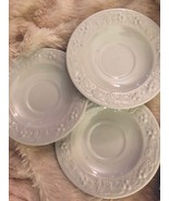 "Homer Laughlin Saucers Creamy White Lot of 3 Great Condition 6"" - $16.03"