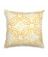 Farmhouse AVERY COTTON THROW PILLOW Country Yellow Orange White Sofa Cus... - £28.34 GBP