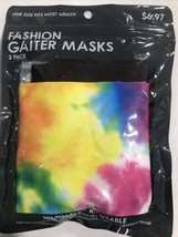 2-Pack Fashion Gaiter Masks Tie Dye Black - Washable Reusable Colorful O... - $6.60