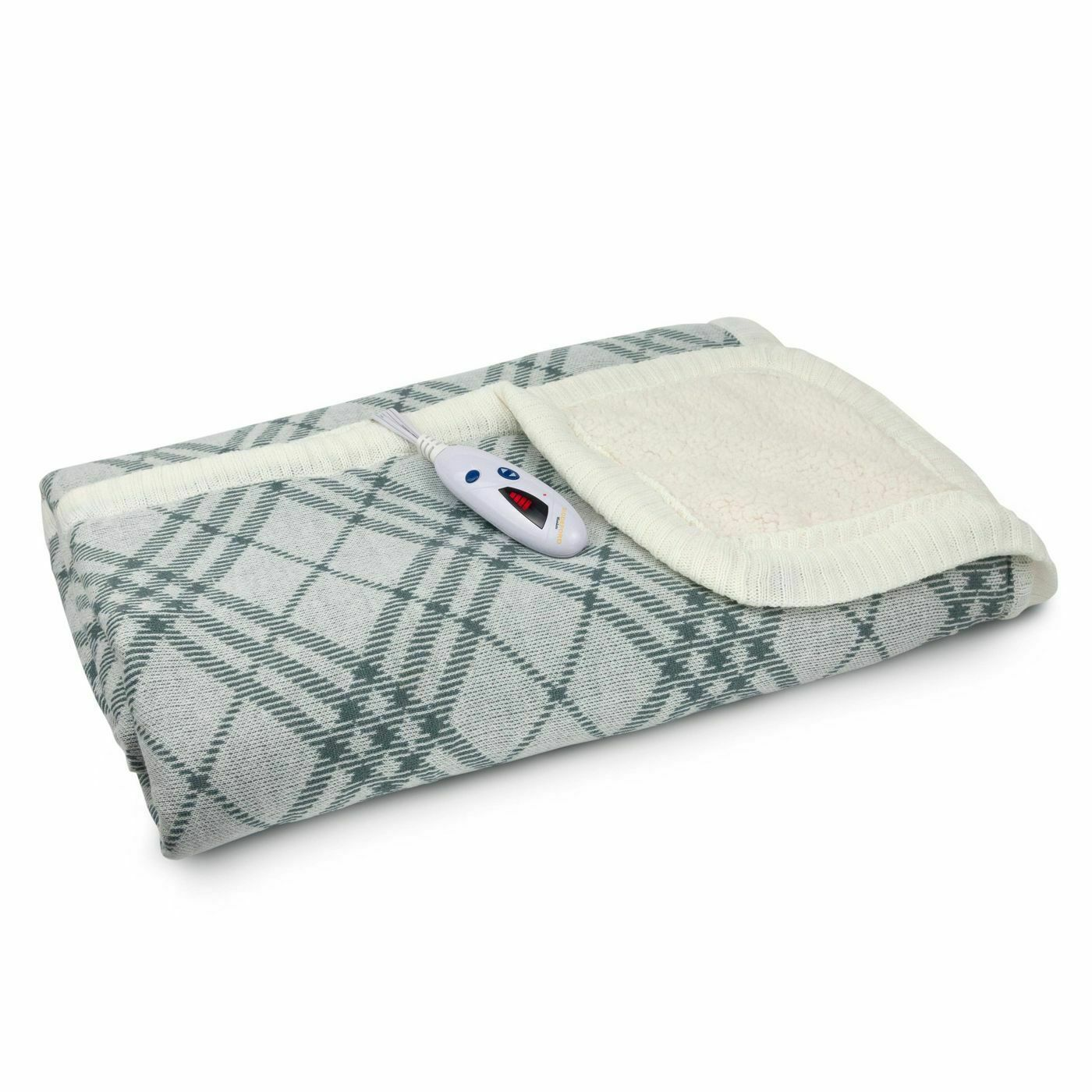 "Biddeford Blankets Electric Throw Blanket - Gray Plaid - Size: 62"" x 50""  NWT-"