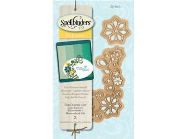 Spellbinders Die D-Lites Floral Corner One Die Set #S2-030