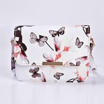 Women Floral Shoulder Bag Small Messenger Bag Retro Butterfly Clutch Tote Purse image 10