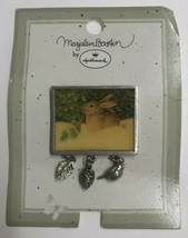 New Marjolein Bastin Bunny Rabbit Pin Brooch W/Bird Pinecone Charms By H... - $12.86