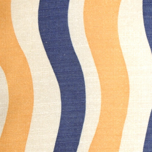Pillow Decor - Country Stripes Blue and Yellow 20x20 Throw Pillow